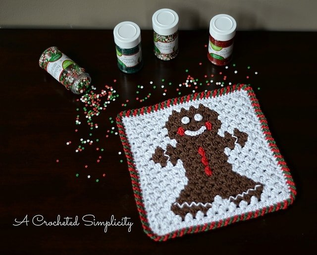 Featured on Free Crochet Pattern Friday: Gingerbread Hot Pad