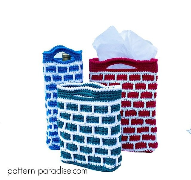 Featured on Free Crochet Pattern Friday: Down the Chimney Gift Bags - Pattern Paradise