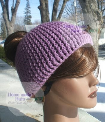 Messy Bun Hat - Home Made Hats by Cheryl - Featured on FCPF ODC