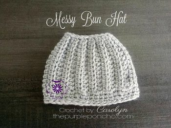 Messy Bun Hat The Purple Poncho - Featured on FCPF ODC