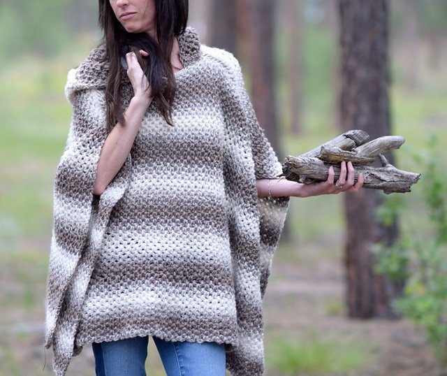5 Oversized Hooded Poncho by Jessica Reeves Potasz -Featured on Free Pattern Friday at ODC
