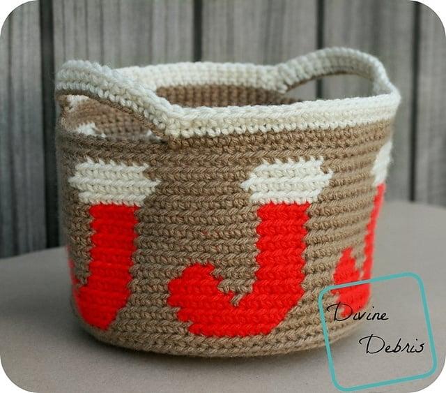 Joyful Stocking Basket by Divine Debris