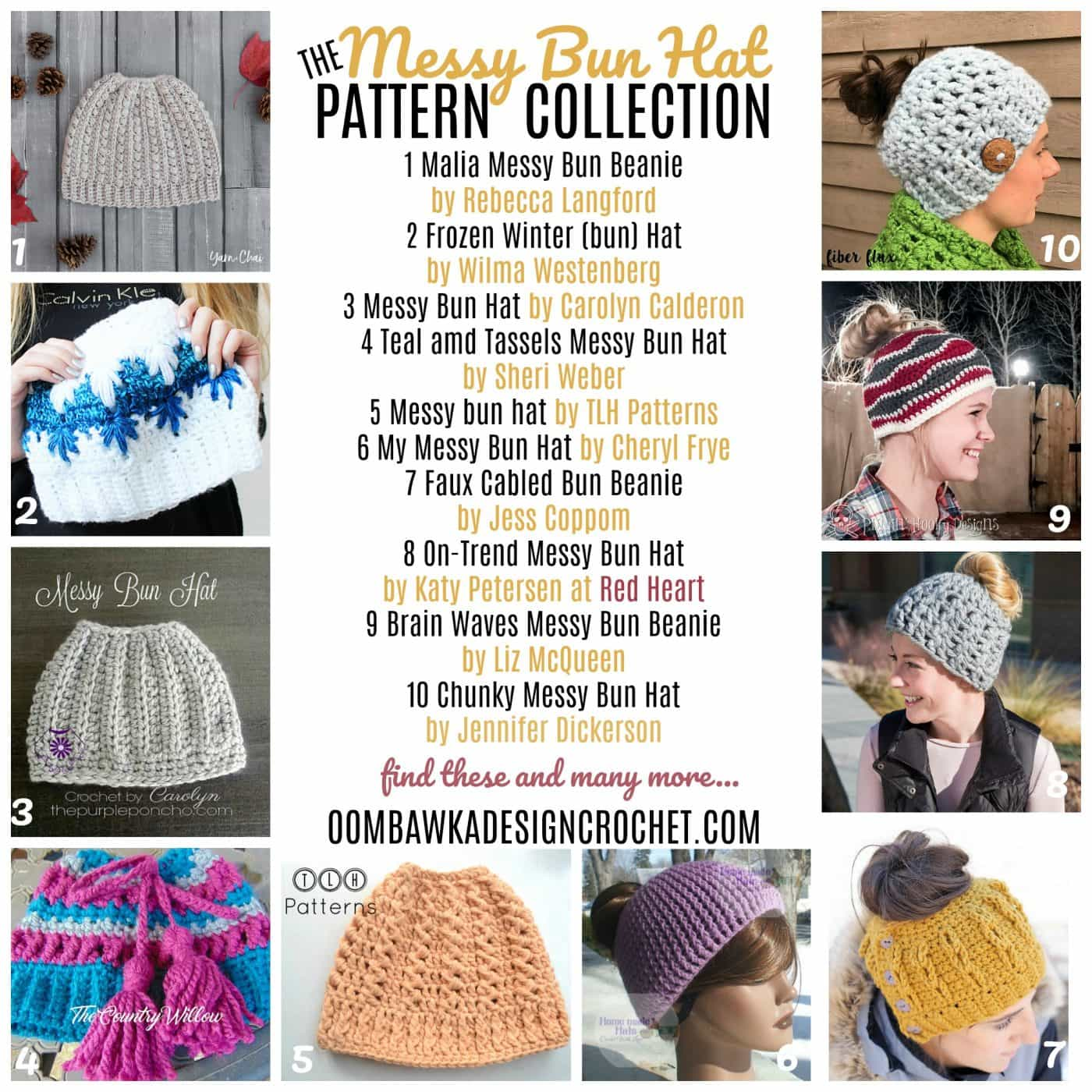 Last year messy bun hats popped up on the crochet scene and became super popular in winter fashion. This year I've already seen people wearing their messy bun hats in Kitchener-Waterloo.In case you have customers asking you to make them messy bun hats - or if you want to make them as gifts for your family and friends I've located a handful of new patterns designed along this winter theme.