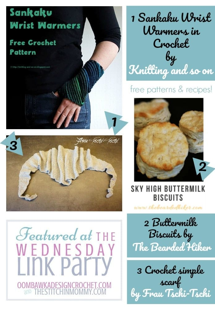 The Wednesday Link Party Features Knitting and So On, The Bearded Hiker and Frau Tschi Tschi