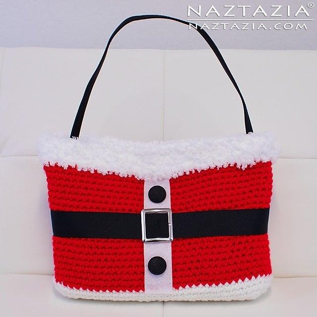 Featured on Free Crochet Pattern Friday: Santa Handbag - Naztazia