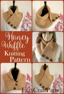 Honey Waffle Scarf This Week We Feature: Wild Moths, Frau Tschi-Tschi and Lilia Craft Party