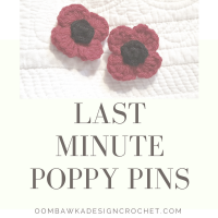 Last Minute Poppy Pins - Free Pattern ODC