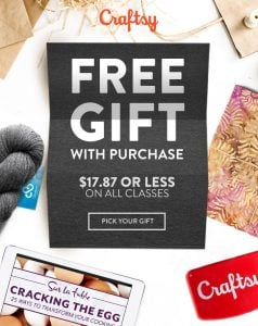 Free Gift With Purchase at Craftsy