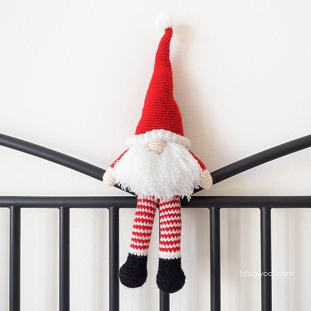 Featured on Free Crochet Pattern Friday: Scandinavian Santa Gnome - One Dog Woof