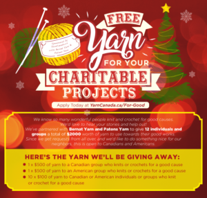 Free Yarn for Your Charitable Projects