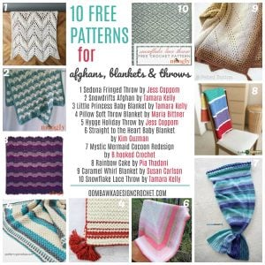 10 Free Patterns for Afghans Blankets and Throws Free Crochet Pattern Friday