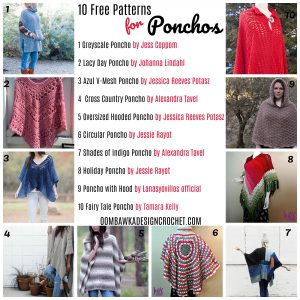 10 Free Patterns for Crochet Ponchos