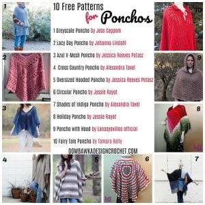 10 Free Patterns for Ponchos - Oombawka Design Crochet