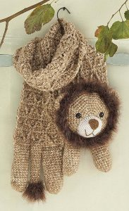 Leo The Lion - Amigurumi Animal Scarves - Leisure Arts - eBook Review by Oombawka Design