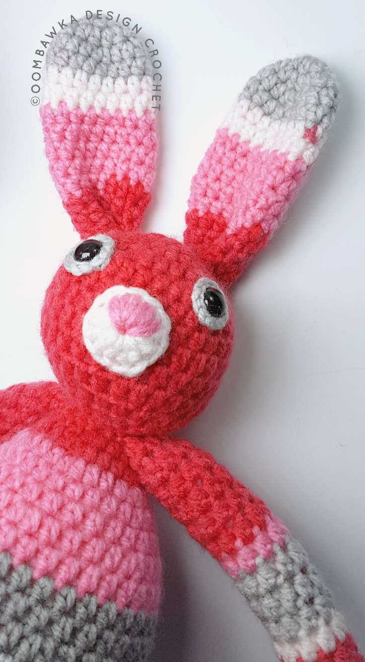 Just A Little Bunny - A Free Crochet Pattern. This is just a little bunny pattern I created using one ball of Bernat Pop! yarn and a 3.5 mm hook. Other supplies you will need include 12 mm safety eyes (or buttons) and fiberfill stuffing.
