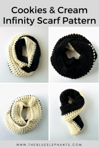 The Wednesday Link Party Features: Cookies and Cream Infinity Scarf by The Blue Elephants