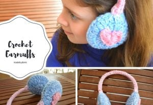 Crochet-Earmuffs DIY- Made by Demi - Featured on The Wednesday Link Party with Oombawka Design and The Stitchin' Mommy