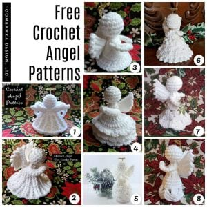 Free Crochet Angel Patterns Designed by Oombawka Design Crochet - Medium Weight Yarn and a 4 mm G hook.