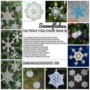 Snowflakes – Free Pattern Friday Crochet Round Up