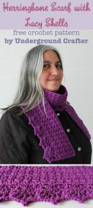 Herringbone-Scarf-with-Lace-Shells-free-crochet-pattern-by-Underground-Crafter