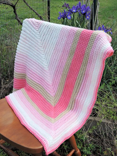 6 Straight to the Heart Baby Blanket by Kim Guzman
