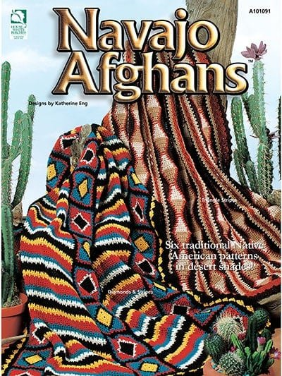 Navajo Afghans Katherine Eng Annies Craft Store Cover Image - Review by Oombawka Design Crochet