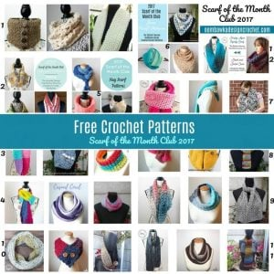 Scarves of the Month 2017 - Free Crochet Pattern Friday Roundup Oombawka Design Crochet Collage