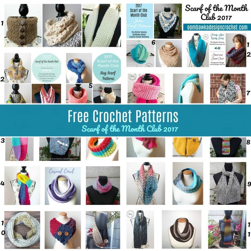 Free Crochet Pattern Friday - Scarf of the Month Club 2017 Collection