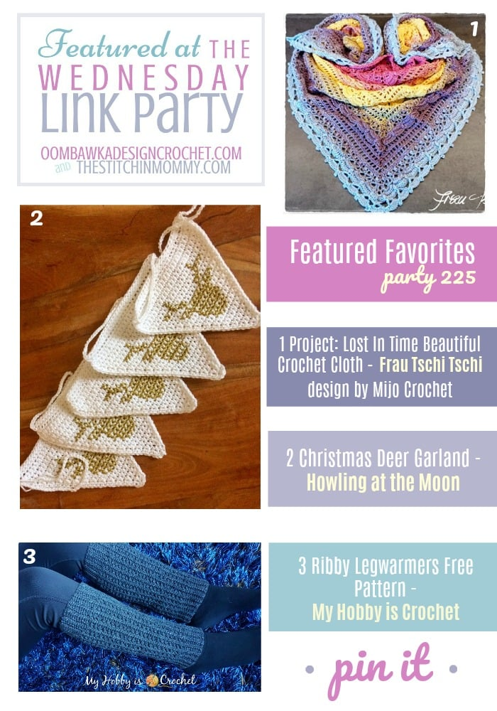 The Wednesday Link Party 225 Featuring Frau Tschi Tschi, Howling at the Moon and My Hobby is Crochet