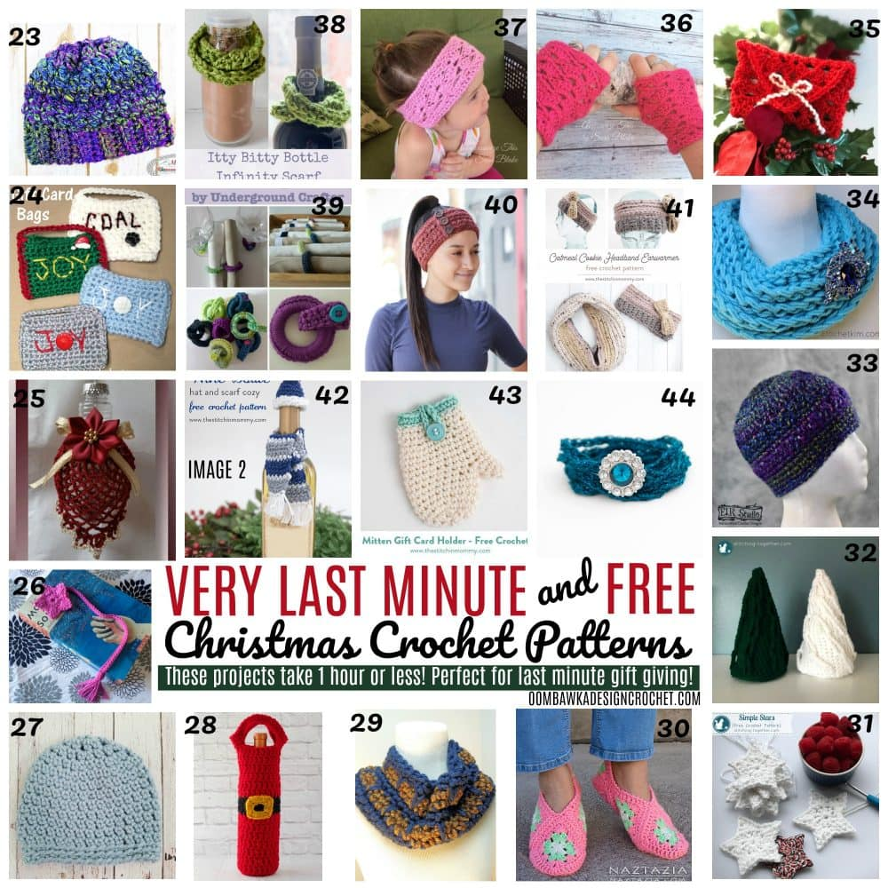 Very Last Minute and Free Christmas Crochet Patterns - RoundUp by Oombawa Design Crochet - Free Patterns That Take Less than 1 Hour To Make! Image 2