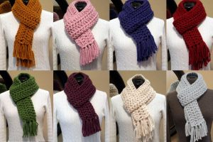 The Wednesday Link Party Features: Crocheted Wool Blend Scarf by H+G Designs