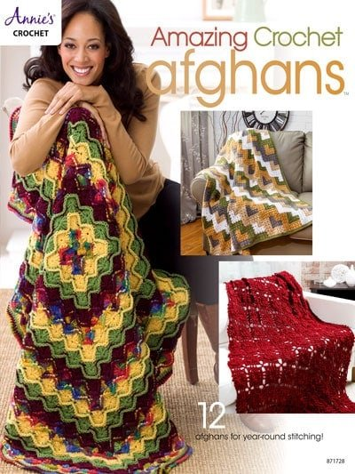 Cover - Amazing Crochet Afghans - Annie's Craft Store - Reviewed by OombawkaDesignCrochet