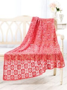 Eyelet Lace Throw - Amazing Crochet Afghans - Annie's Craft Store - Reviewed by OombawkaDesignCrochet