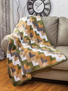 Mitered Shells Throw - Amazing Crochet Afghans - Annie's Craft Store - Reviewed by OombawkaDesignCrochet