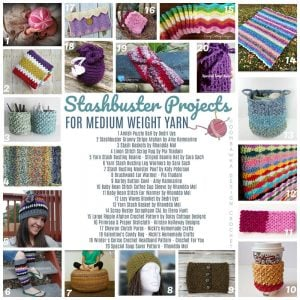 20 Stashbuster Crochet Projects You Can Make With Medium Weight Yarn - Round Up oombawkadesigncrochet