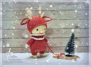Featured On The Wednesday Link Party 226: Christmas Reindeer - Lalka Crochetka