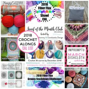 2018 Crochet Alongs. The 2018 CAL List