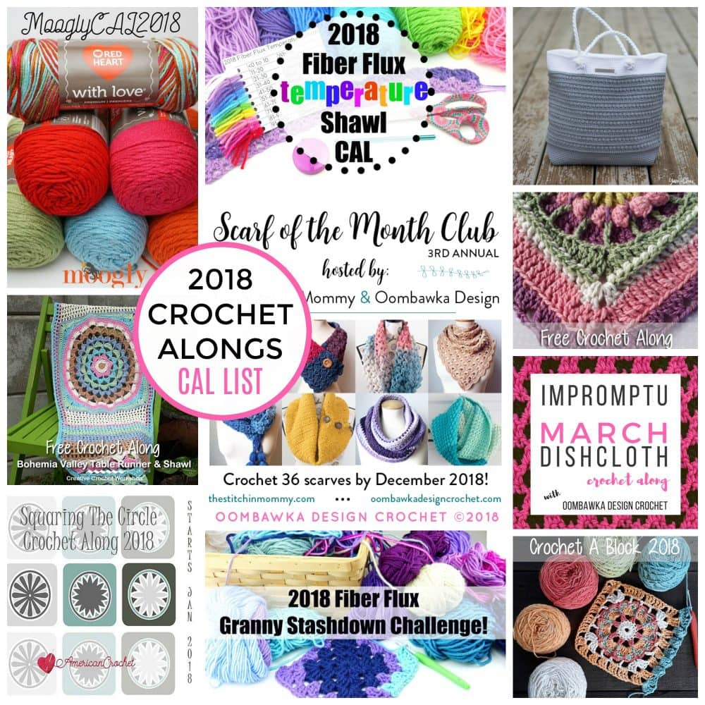2018 Crochet Alongs CAL List