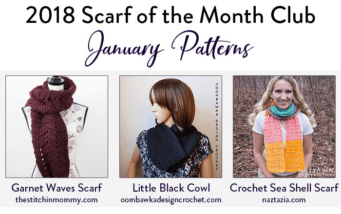 #scarfofthemonthclub2018 January - Oombawka Design Crochet