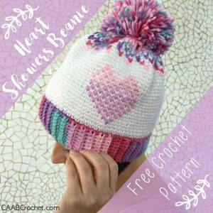 Wednesday Link Party 230 Features: Wednesday Link Party 230 with Oombawka Design and The Stitchin Mommy Featuring Heart Showers Beanie - Cute as a Button Crochet