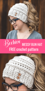 Featured Favorite at The Wednesday Link Party: Beehive-Bun-Hat