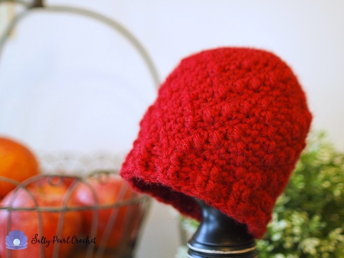Chevron Puff Hat Salty Pearl Crochet Guest Charity Post January