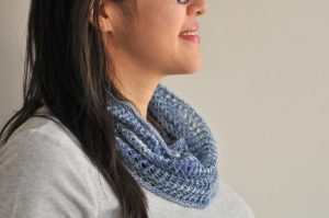 Featured Favorite at The Wednesday Link Party: DIY-Okinawa-Cowl-in-Denim-Kiku-Corner