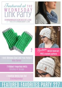 Featured Favorites The Wednesday Link Party 227 Kiku Corner, Stitches n'Scraps and Crochetpreneur
