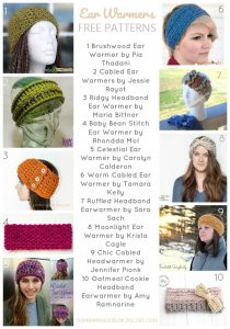 Crochet these Friday Freebies! 10 Free Patterns for Ear Warmers