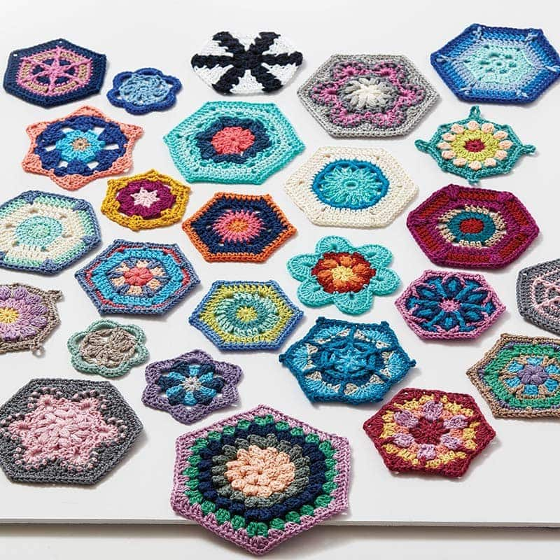Hexagons - Crochet Kaleidoscope by Sandra Eng
