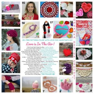 Love is in the Air - 20 plus free patterns filled with love for Valentines Day - Roundup oombawkadesigncrochet