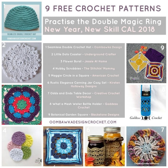 2018 New Year New Skill Crochet Along Oombawka Design Crochet