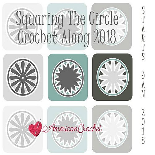 Squaring the Circle Throw - American Crochet CAL