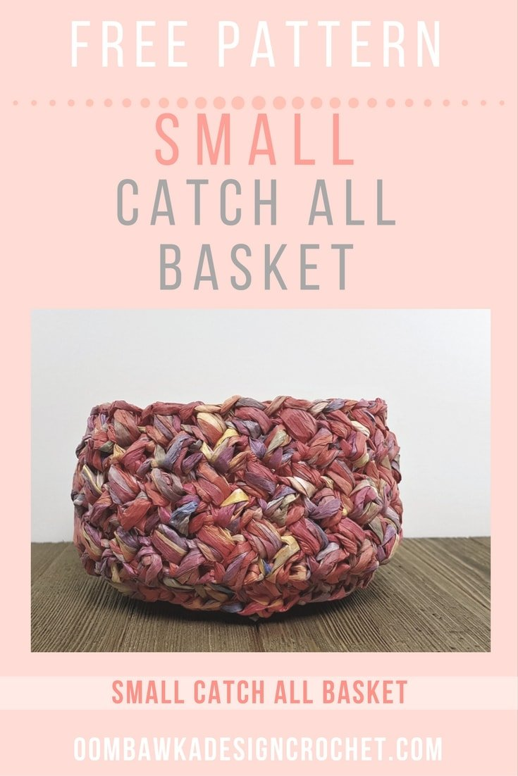 Small Catch All Basket Oombawka Design Crochet 1
